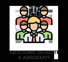 Consente la gestione di tutto ciò che attiene agli iscritti: anagrafiche, cariche, gestione e rinnovi quote, ecc