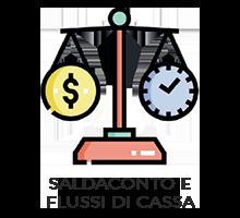 Implementa la contabilità clienti/fornitori, gestisce i flussi finanziari e consente le previsioni di cassa